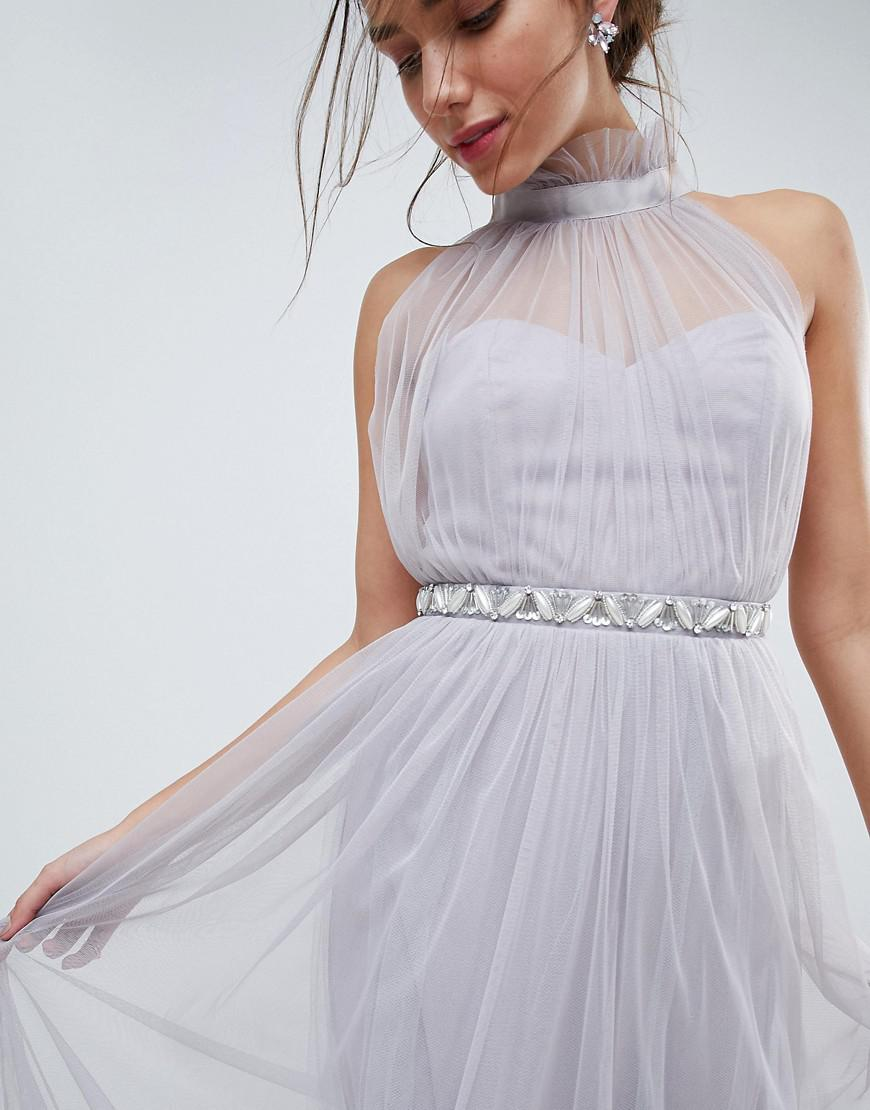 High Neck Tulle Dress