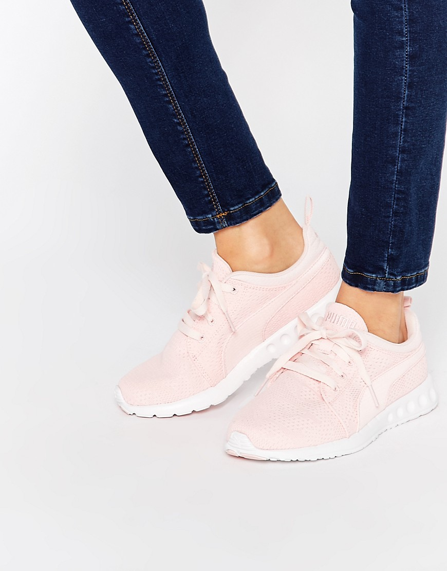 Puma Carson Runner Camo Mesh Pale Pink Trainers In Pink Lyst