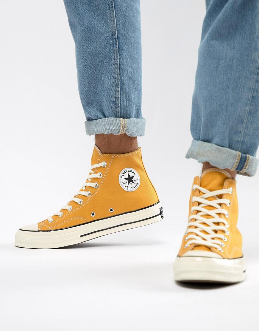 e643114cec5 Lyst - Converse Chuck Taylor All Star  70 Hi Sneakers In Yellow ...