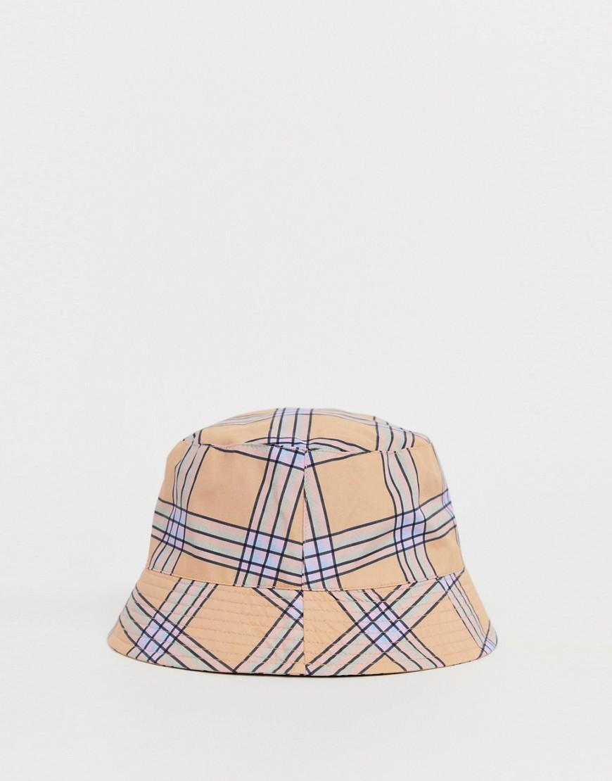 3b93dd85 ASOS Co-ord Check Bucket Hat for Men - Lyst