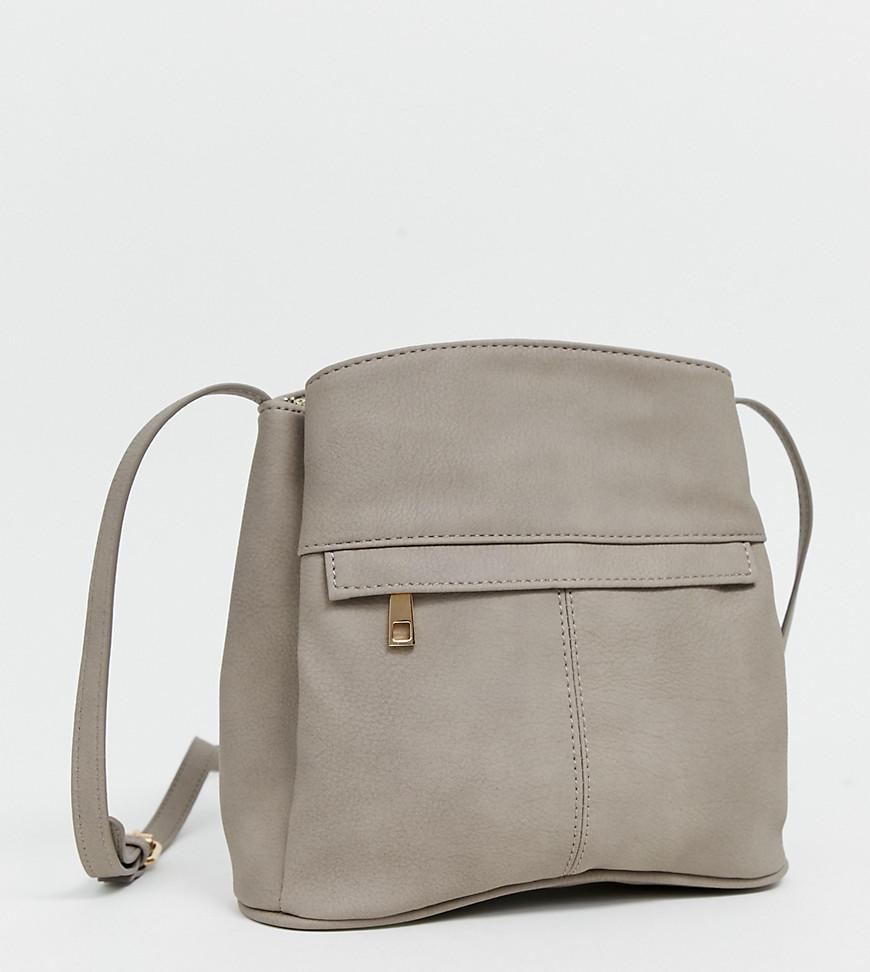 fa9959cea47a Oasis Saddle Cross Body Bag In Grey in Gray - Lyst