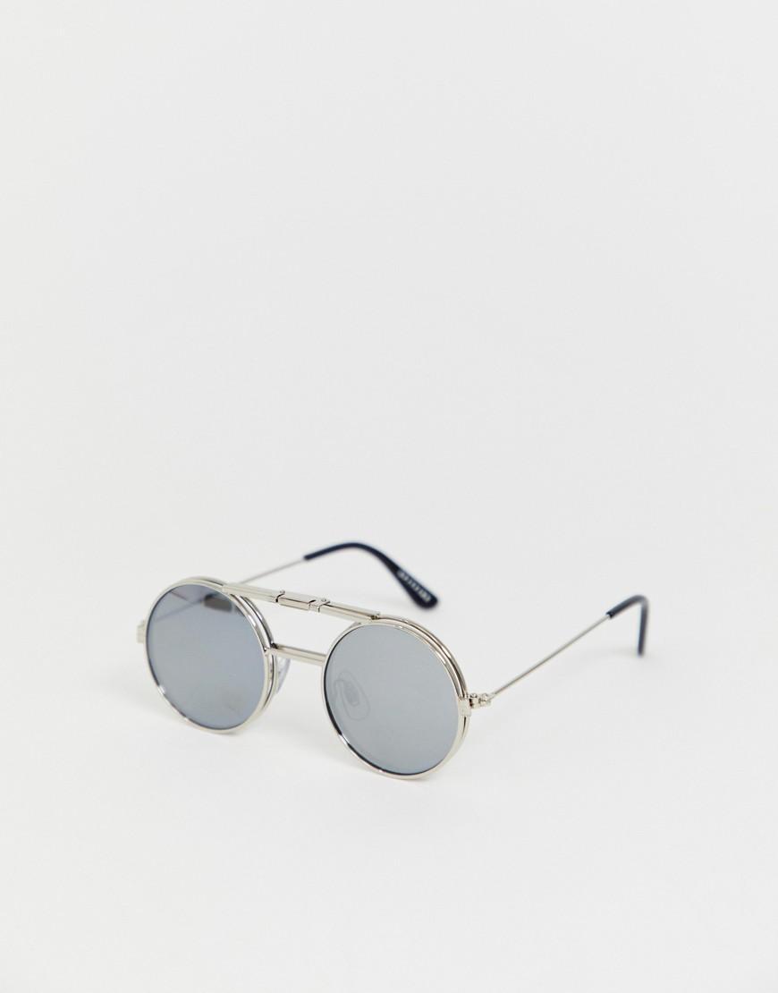 d82e8682e0 Gafas de sol redondas y abatibles en plateado Lennon de Spitfire de ...