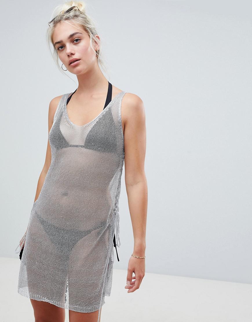 b5297873ca New Look Metallic Beach Dress in Metallic - Lyst