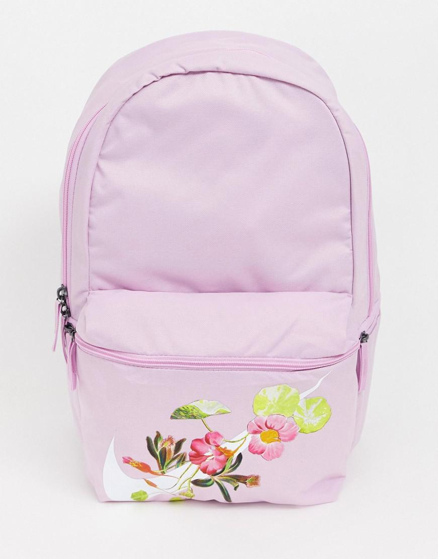 Nike Pink Heritage Floral Logo Backpack in Pink - Lyst 8b91a12579