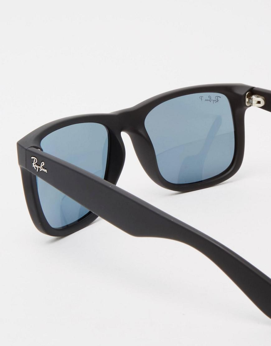 1a7d9f9ad1c Ray-Ban Justin Polarised Sunglasses Rb4165 in Black for Men - Lyst