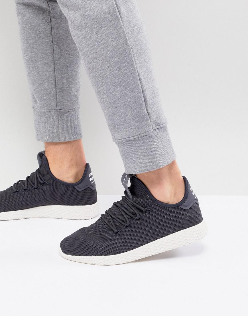 new concept 7dc9c ada6a adidas Originals X Pharrell Williams Tennis Hu Sneakers In Gray ...