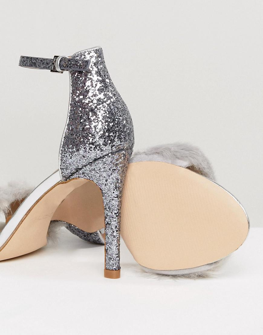 Fiolla Faux Fur Heeled Sandals - Silver Aldo Cheapest Price Sale Online Looking For Sale Online 2018 Cool Lowest Price For Sale G0a7DFt