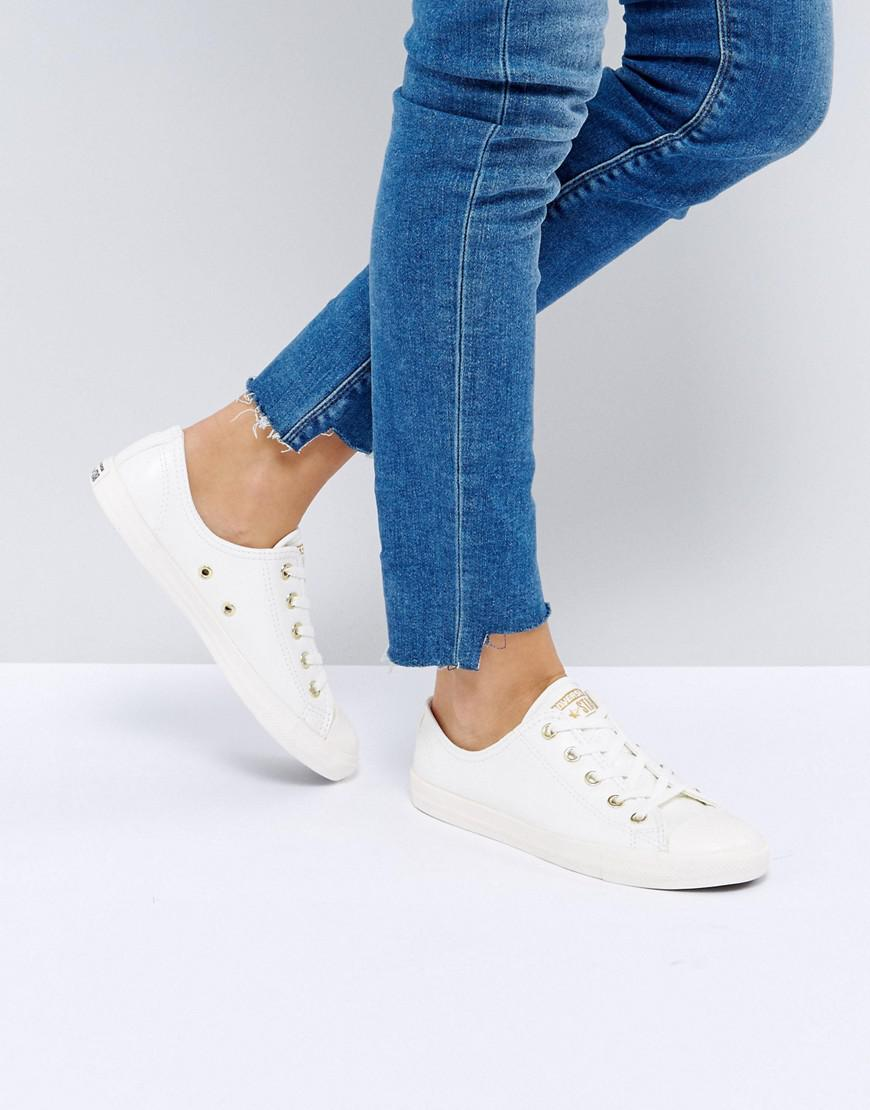 Lyst Converse Chuck Taylor All Star Dainty Trainers In Beige In