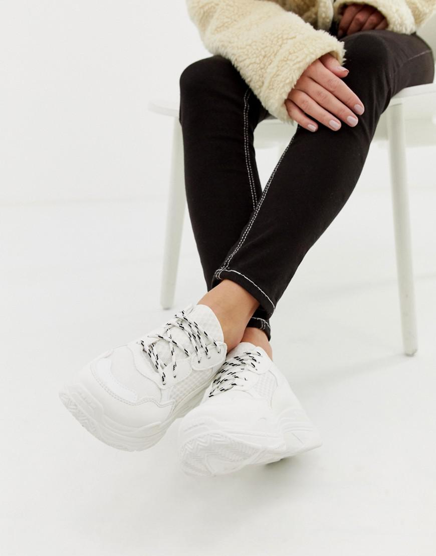 43c85b19b90 Lyst - Public Desire Fiyah White Chunky Trainers in White