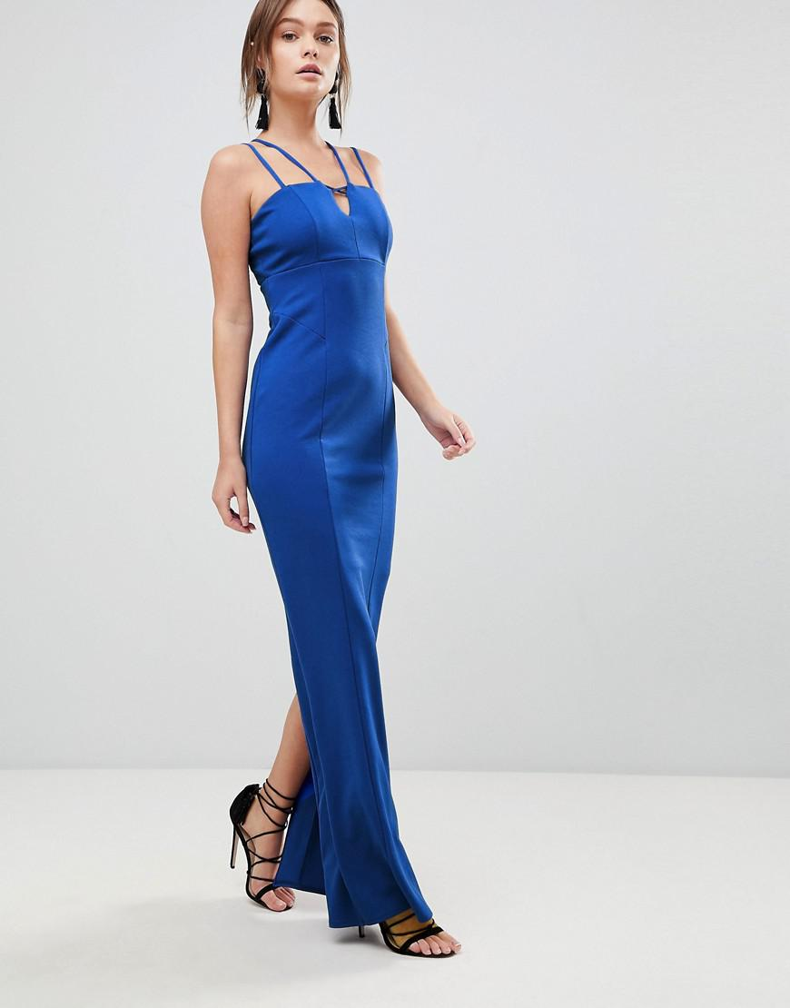 Zoe Strappy Maxi Prom Dress - Blue Coast uR9e1Q