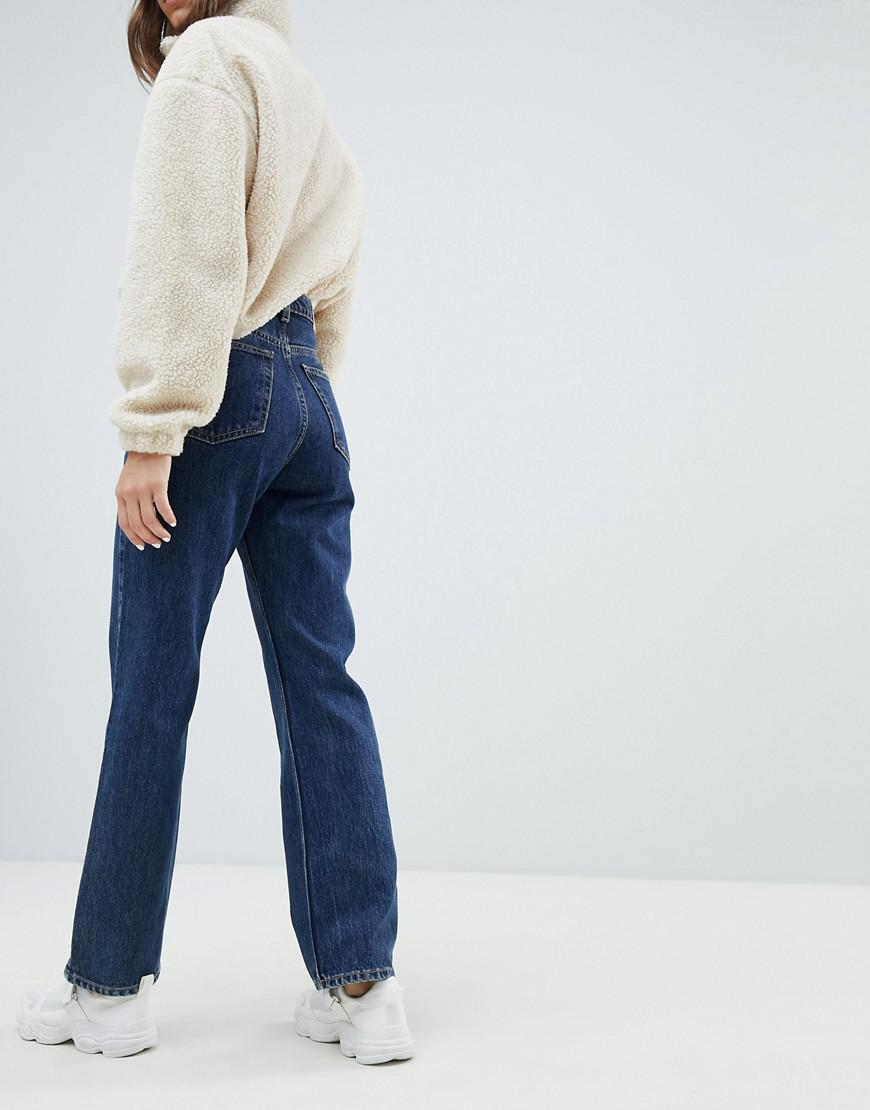 da5afde169ed Lyst - Weekday Row High Waist Jeans In Win Blue In Organic Cotton in ...