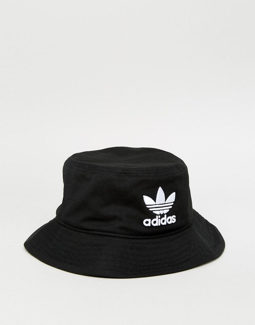 95dc8a3d66a Lyst - adidas Originals Trefoil Bucket Hat In Black Bk7345 in Black ...