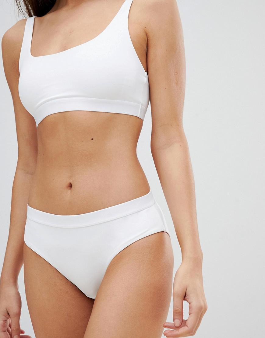 85a733af02eb1e Weekday White Bikini Bottoms in Black - Lyst