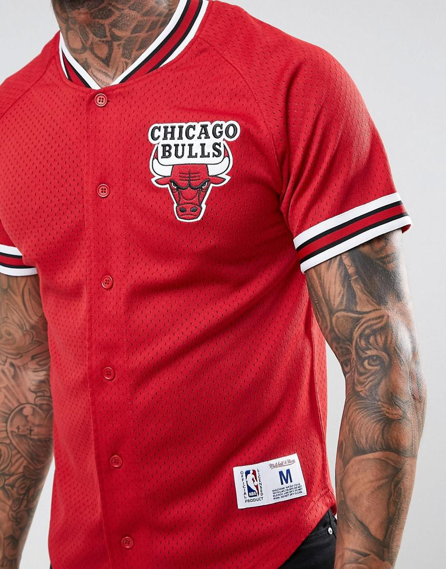 11f9f73fdae official lyst mitchell ness nba chicago bulls mesh t shirt in red for men  ad1ce 53217