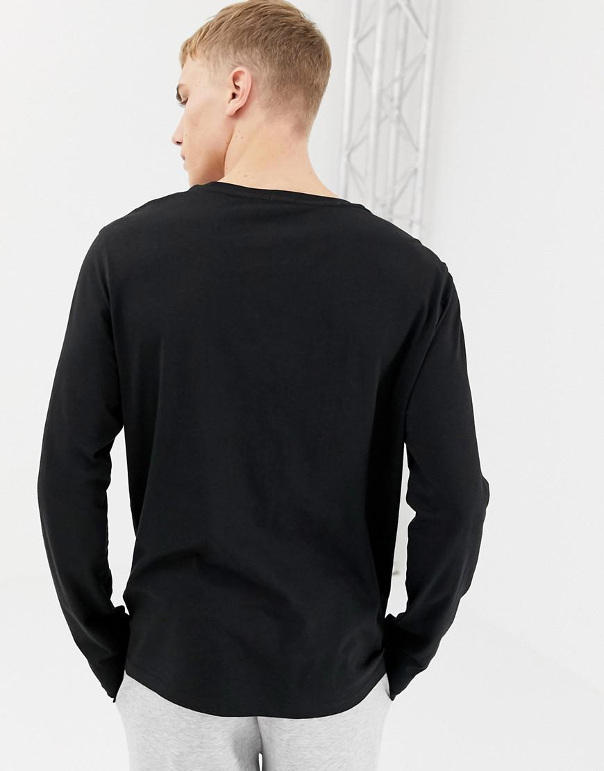 471aea0640f00 Tommy Hilfiger Flag Long Sleeve Top In Organic Cotton In Black in Black for  Men - Lyst