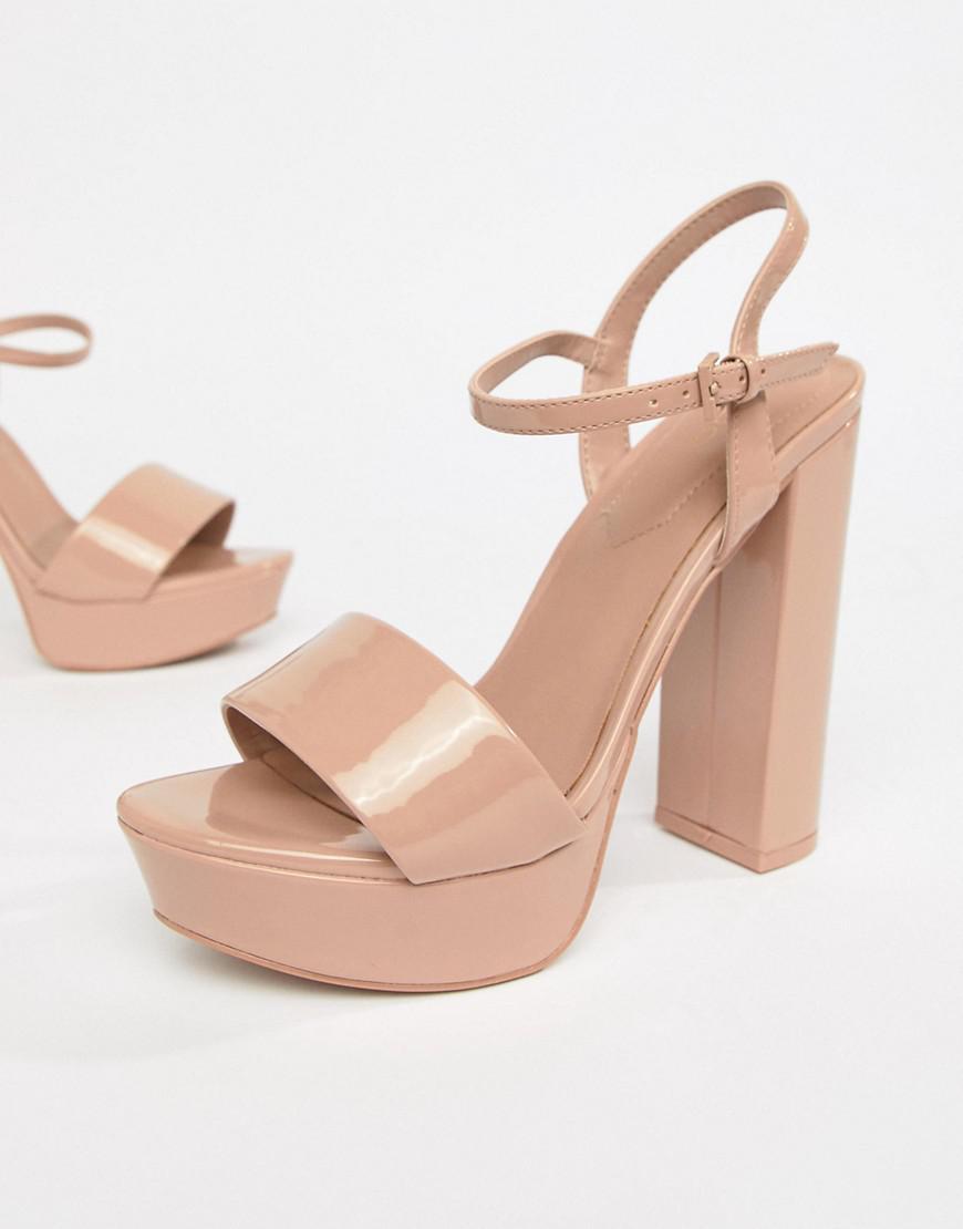 054e4d358d6 Lyst - ALDO Platform Heeled Sandals in Pink