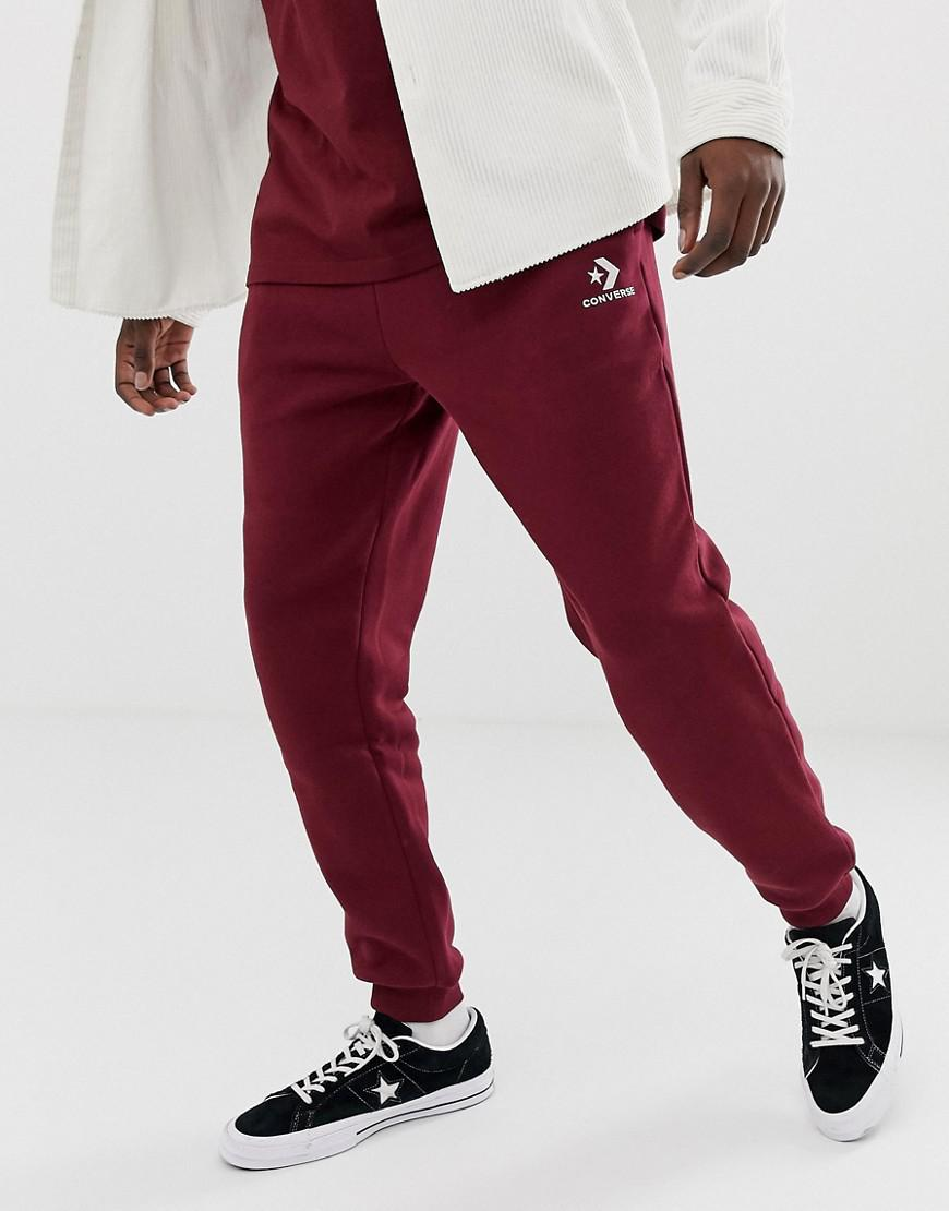 aa0ee8b263ba Lyst - Converse Small Logo Joggers In Red 10008815-a11 in Red for Men