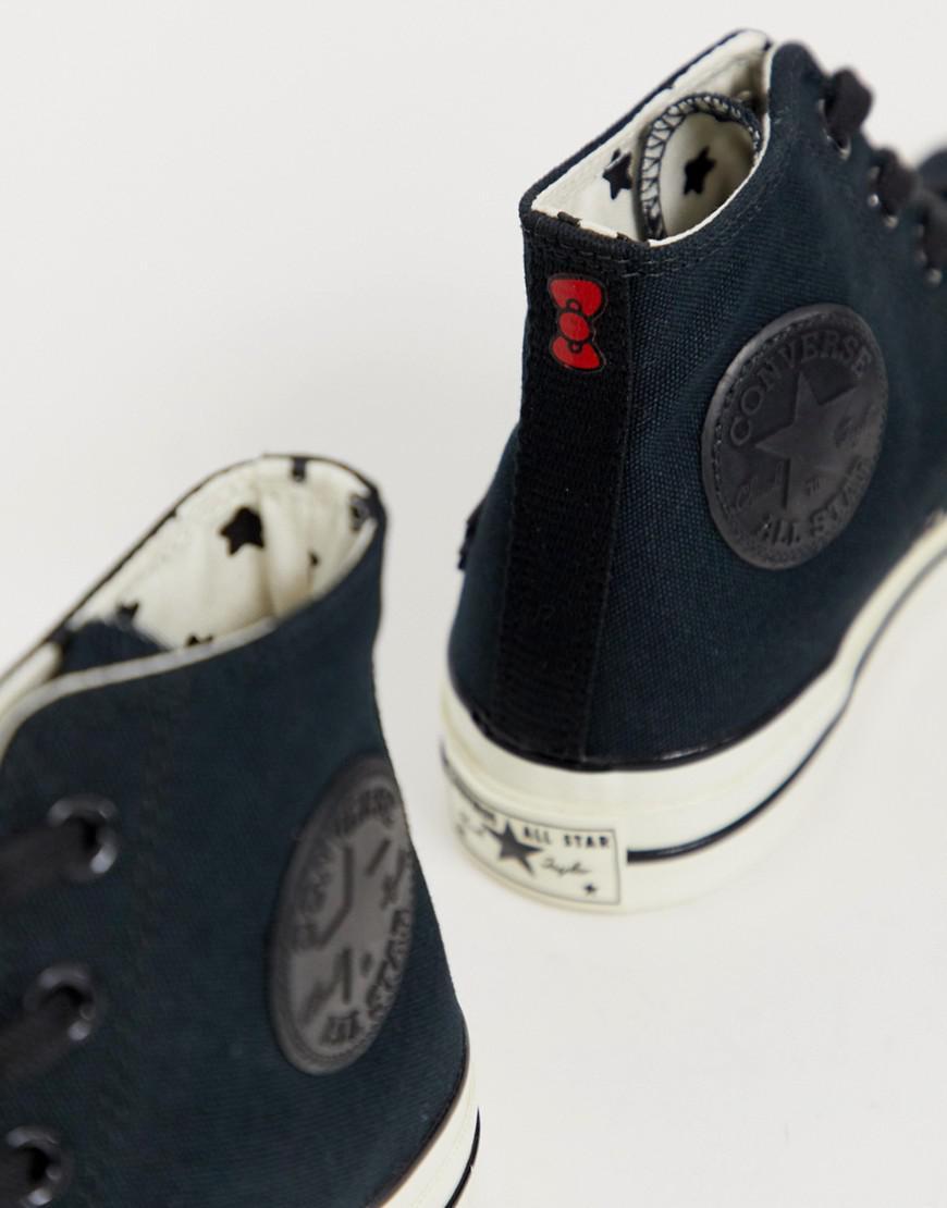4ddb058d6f0aed Lyst - Converse X Hello Kitty Chuck Taylor 70 Hi Black Sneakers in Black