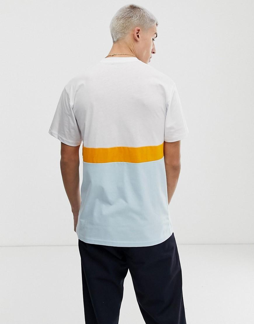 d4c7419cb1933e Vans Colour Block T-shirt In White in White for Men - Lyst