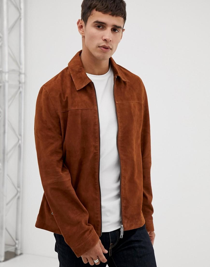 240b19e45 Ted Baker Suede Jacket In Brown in Brown for Men - Lyst