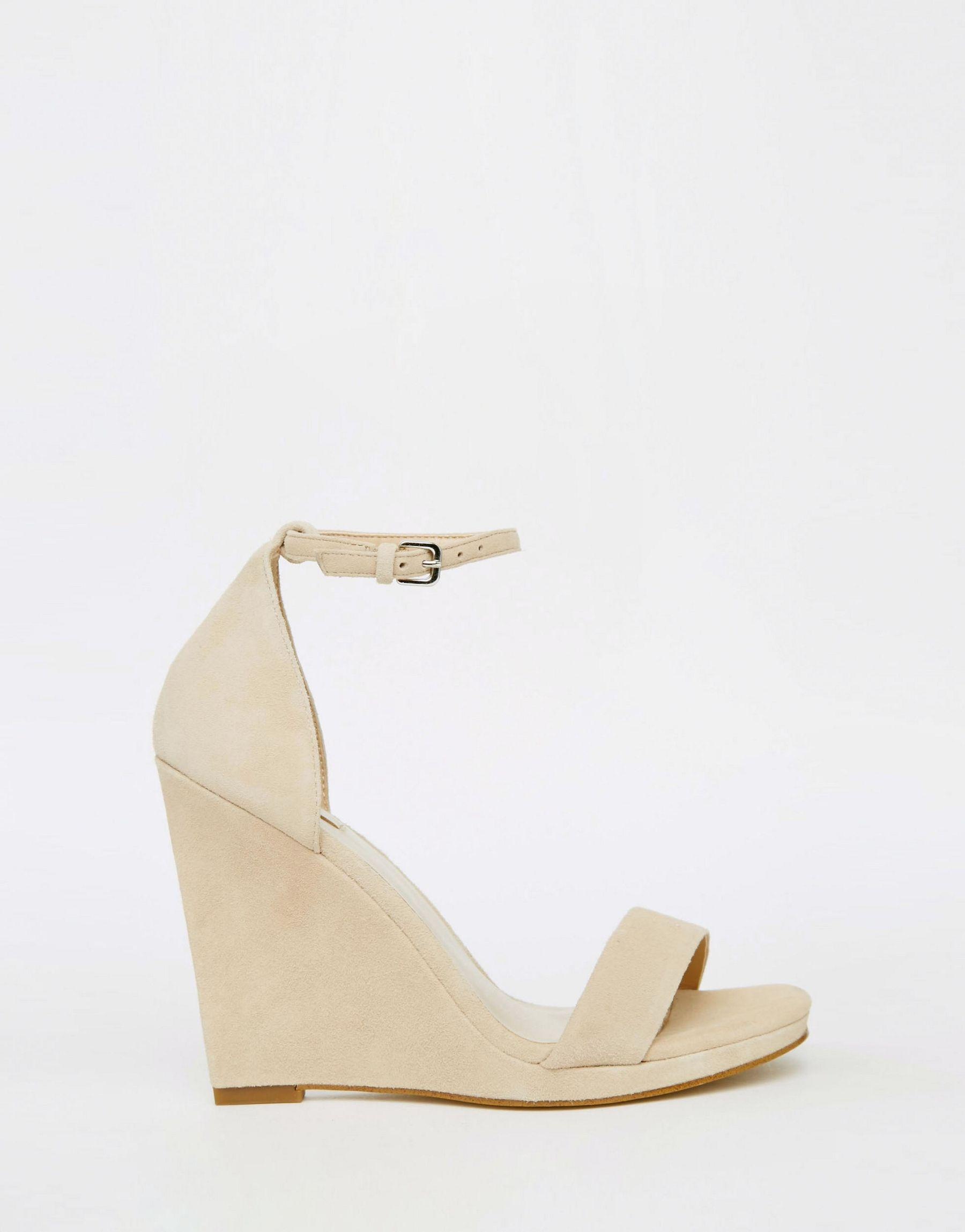 8a82a75efca6 Lyst - ALDO Ldo Elley Nude Wedge Sandals in Natural