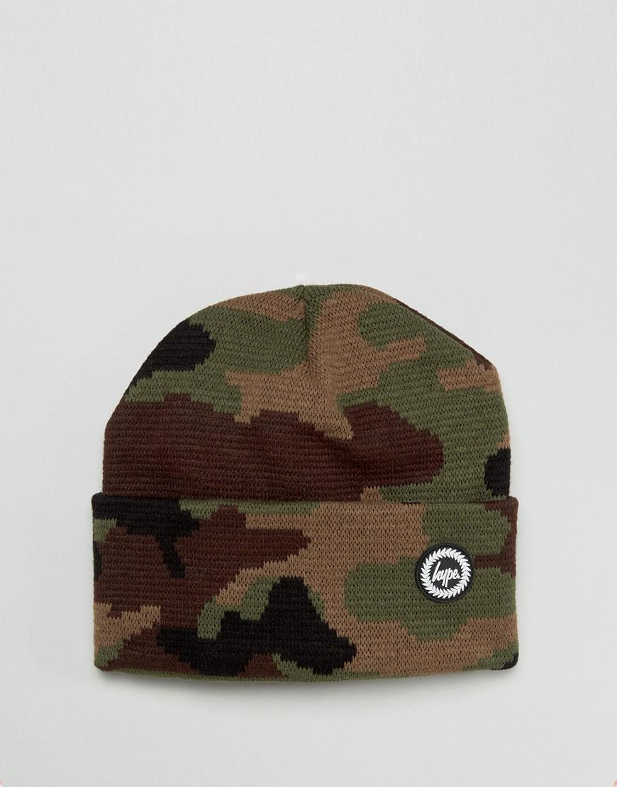 df0ef79b584 Lyst - Hype Beanie In Camo in Green for Men