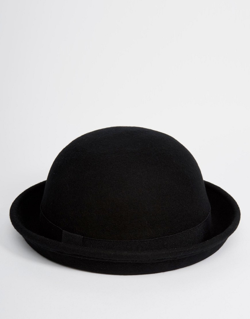 This Stoic Looking Traditional Black Permafelt Derby Hat is a Classic Hat for Any Occasion. This Adult Sized Black Permafelt Derby Hat Has a Crown 4 1/2