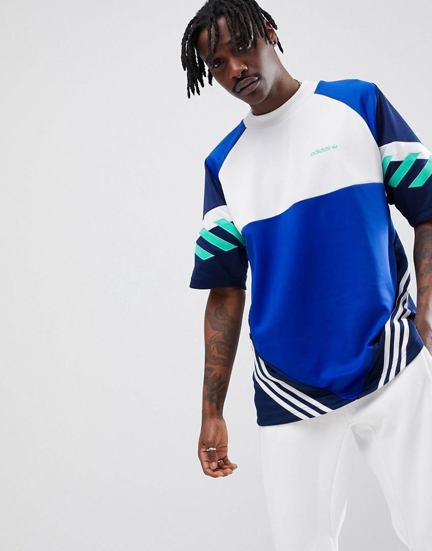 e72d09a2 adidas Originals Nova Retro Oversized T-shirt In Blue Ce4843 in Blue ...