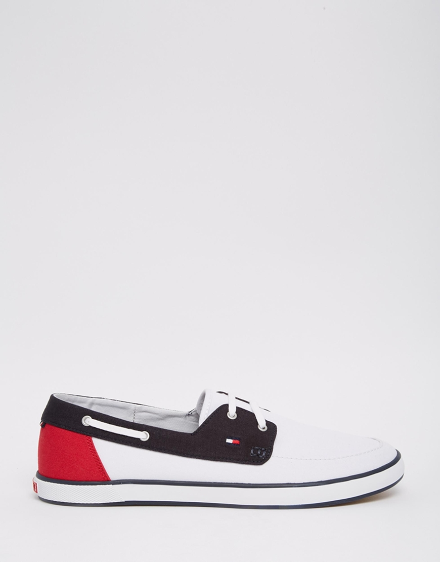 727b8c9098506c Lyst - Tommy Hilfiger Harlow Canvas Boat Shoes in Black for Men