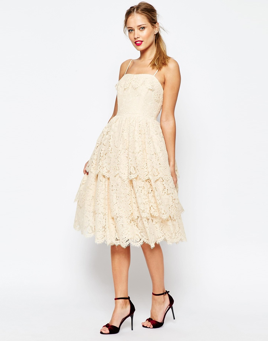 Layered Lace Prom Dress