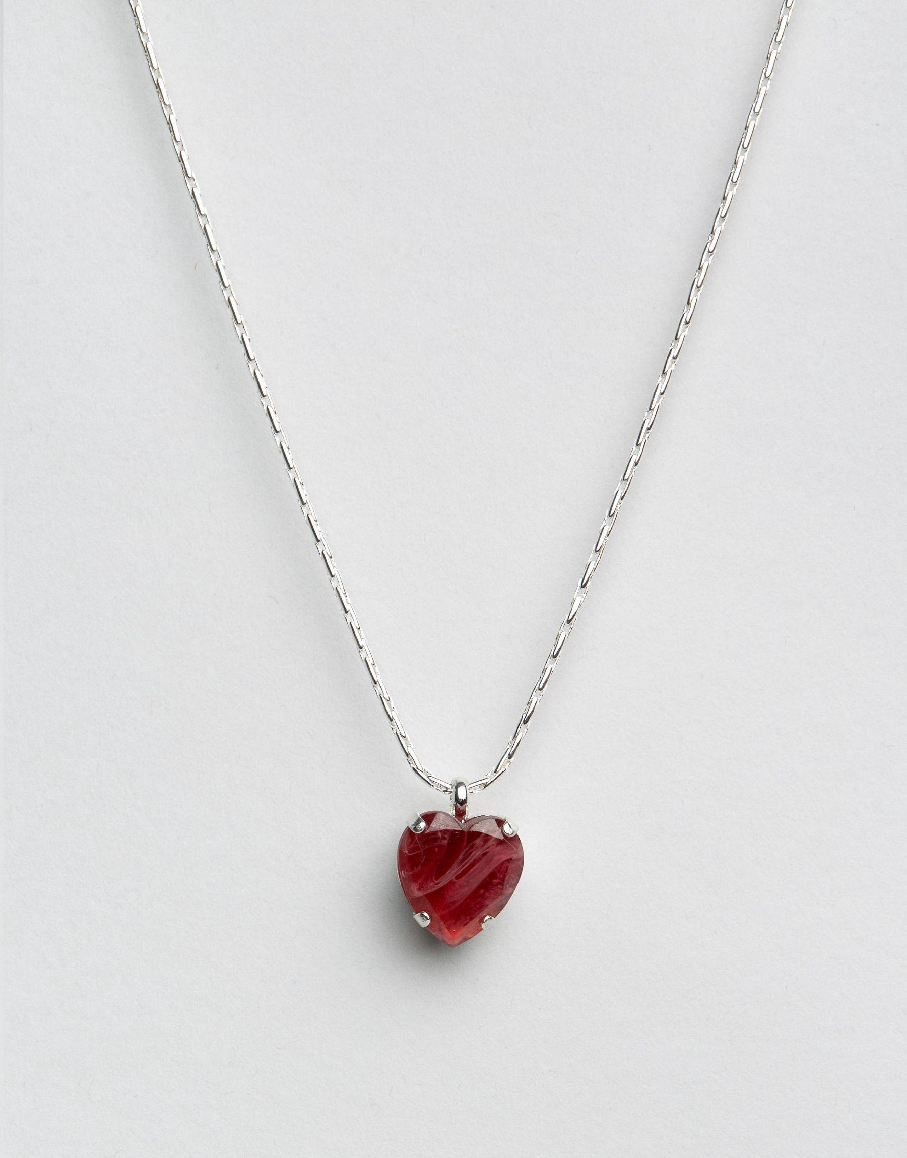 Lyst Krystal Swarovski Crystal Heart Pendant Necklace In Red