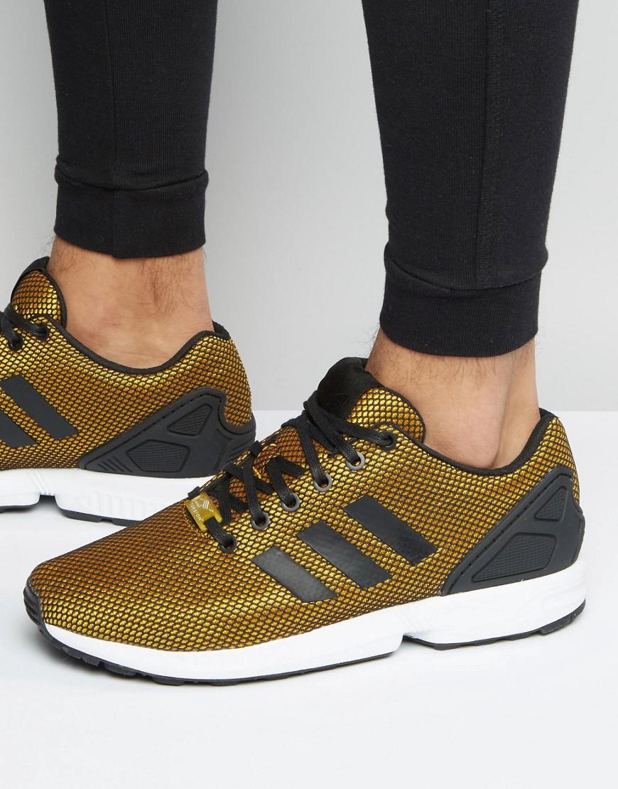 Adidas originali zx flusso dei formatori in oro s32275 oro metallico