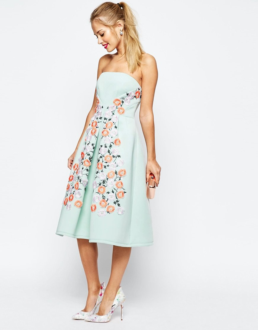 7487f1ee95c30 Asos Tall Salon Floral Embroidered Backless Pinny Midi Prom Dress ...