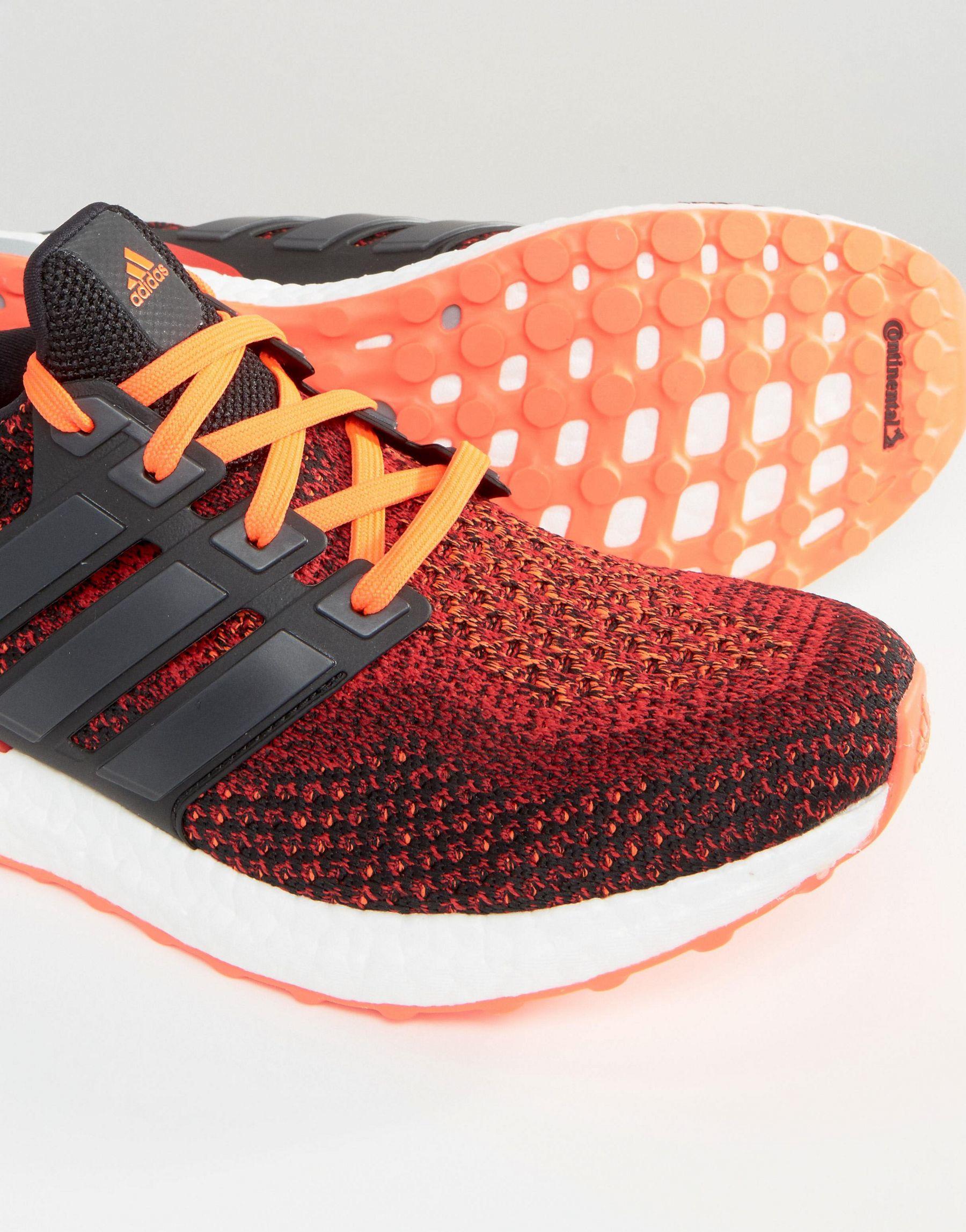 adidas originals ultra boost trainers in red aq5930