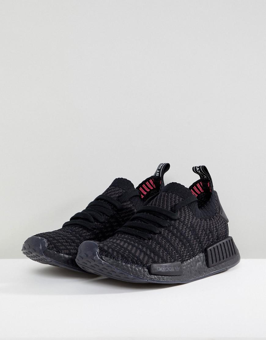 e752a5b2e8d1d8 Lyst - adidas Originals Nmd R1 Sneakers In All Black in Black