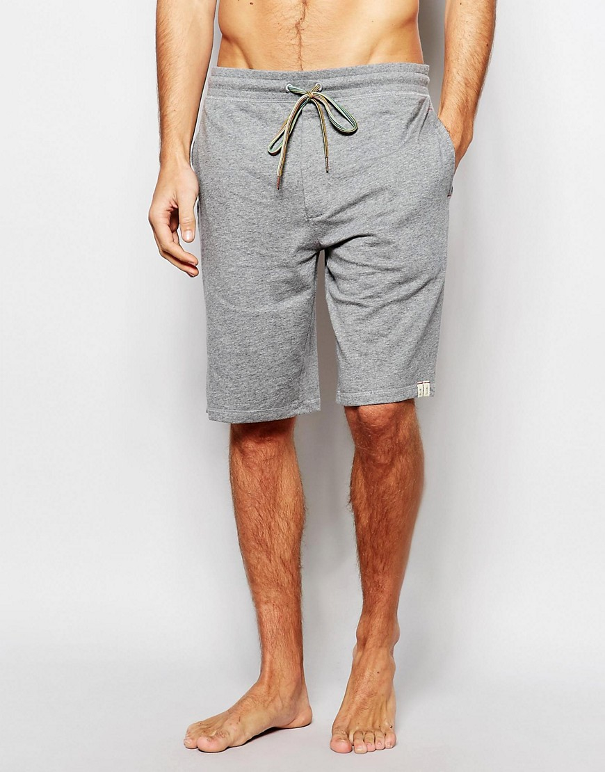 Paul Smith Jersey Lounge Shorts In Slim Fit In Gray For