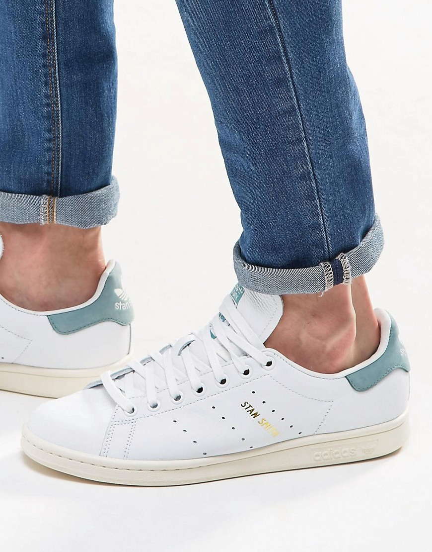 52baed9e6cc2 Lyst - adidas Originals Stan Smith Trainers In White S80025 in White ...