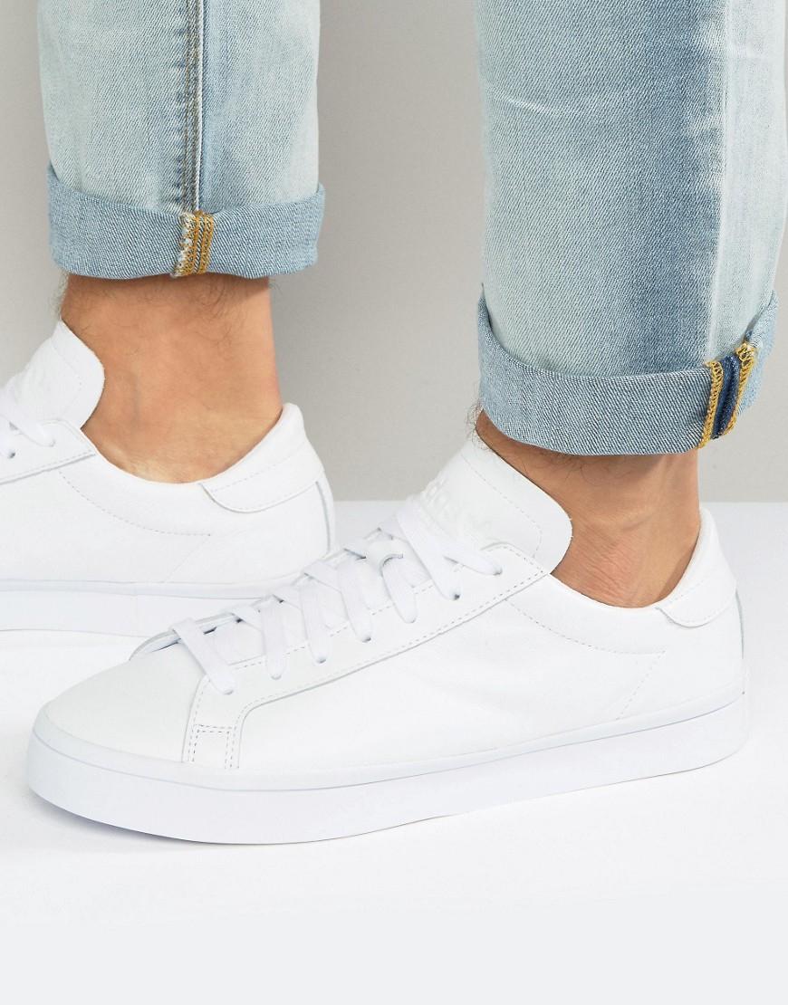 lyst adidas originali corte vantage scarpe bianche s76210 in