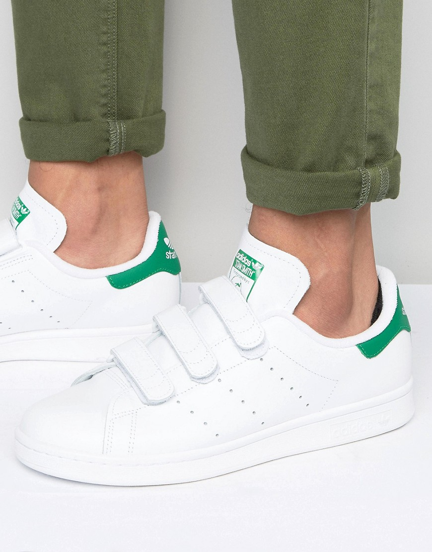 lyst adidas originals stan smith velcro trainers in white s75187 in white for men. Black Bedroom Furniture Sets. Home Design Ideas