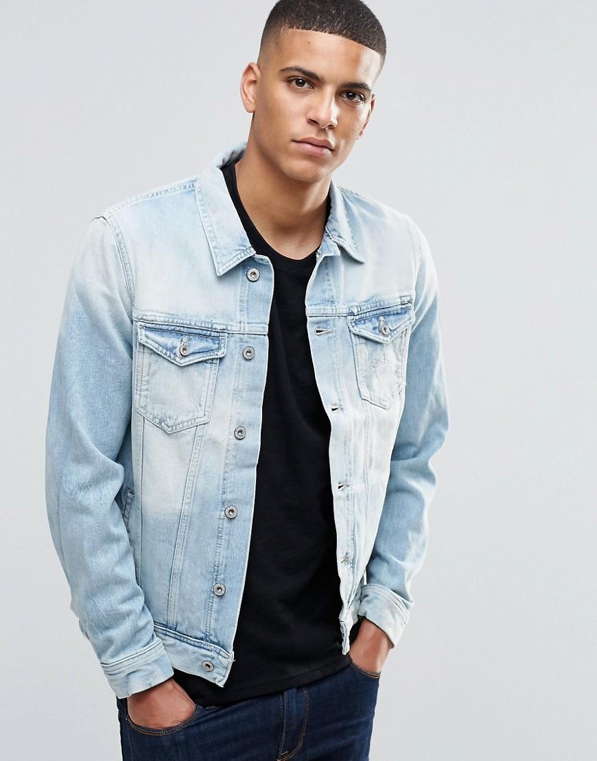 pepe jeans jacket in blue for men lyst. Black Bedroom Furniture Sets. Home Design Ideas
