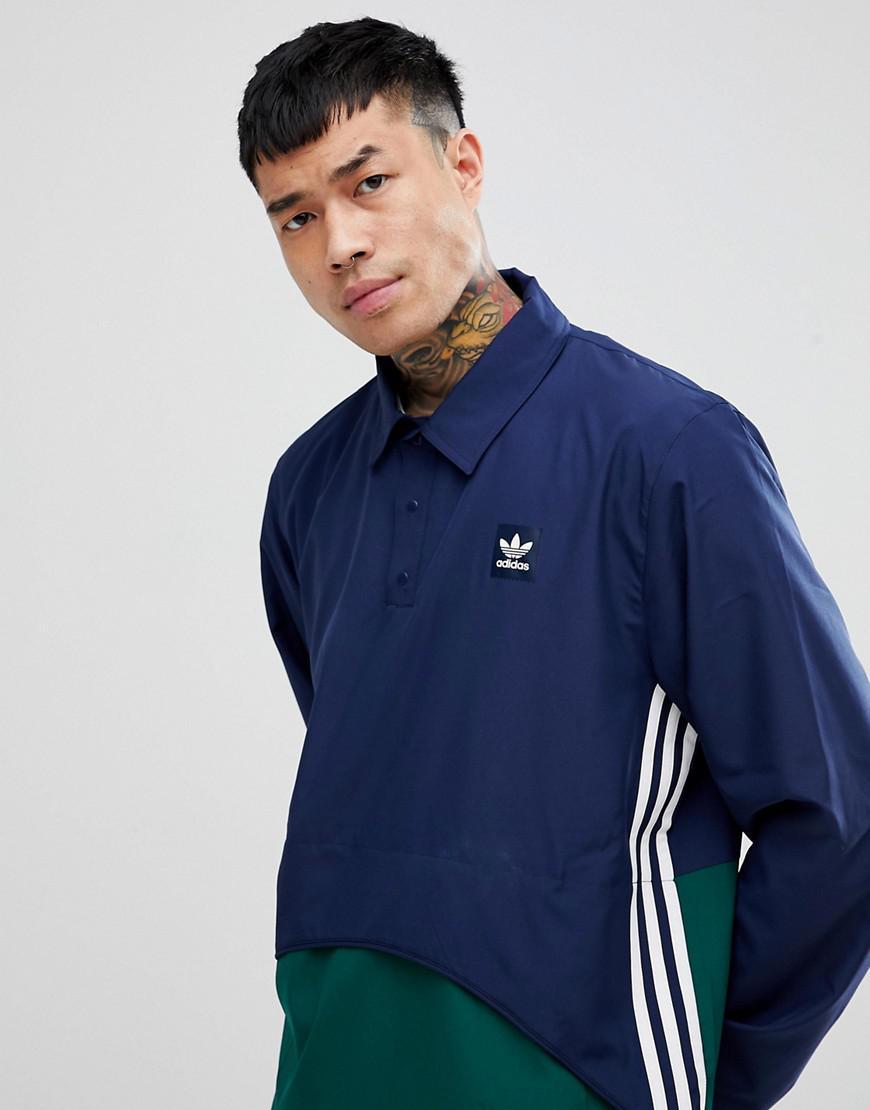 Coloris En Originals Bleu Lyst À Homme Pbqfswp Adidas Pour Veste Enfiler 45wXnq7