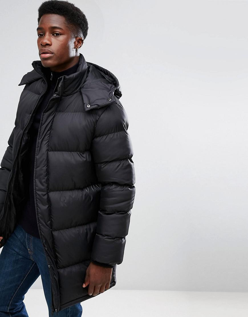 ede09ca61f6 French Connection Padded Hooded Jacket in Black for Men - Lyst