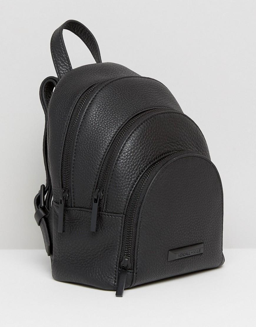 Kendall Kylie Mini Sloane Pebble Leather Backpack In