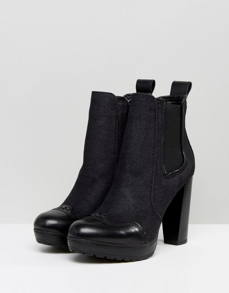 G-Star Denim Mix Heeled Chelsea Boot OR2dI9