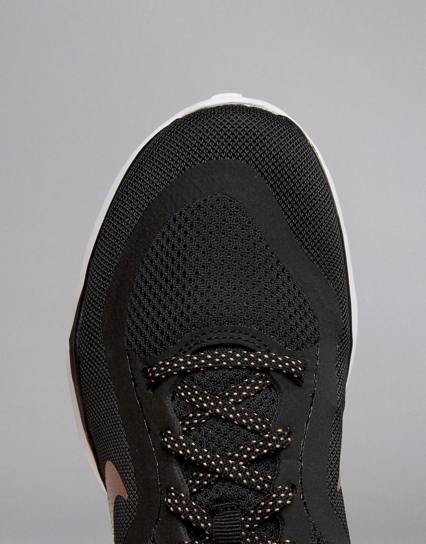 ec23420a8a79 Nike Flex 6 Trainers In Black And Metallic Gold in Black - Lyst