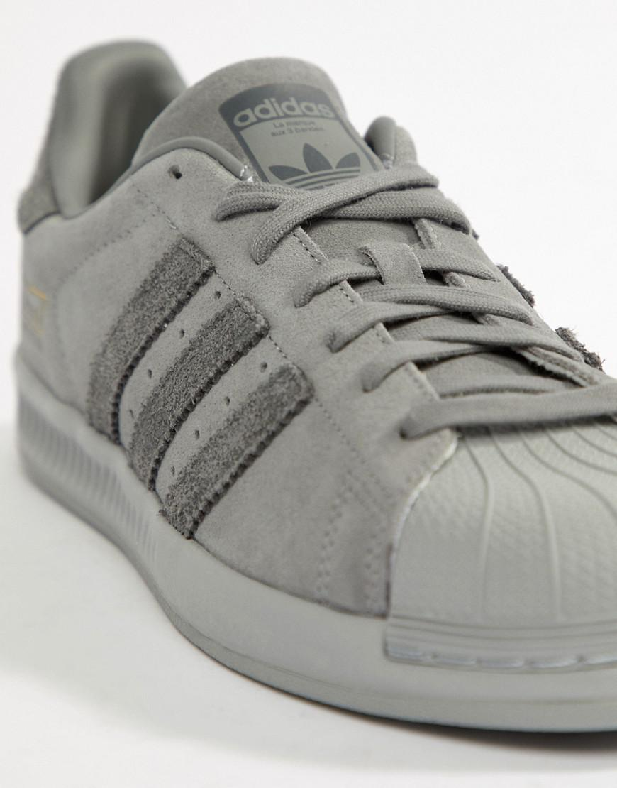 5b7c7a8e5 Lyst - adidas Originals Superstar Bounce Sneakers in Gray for Men
