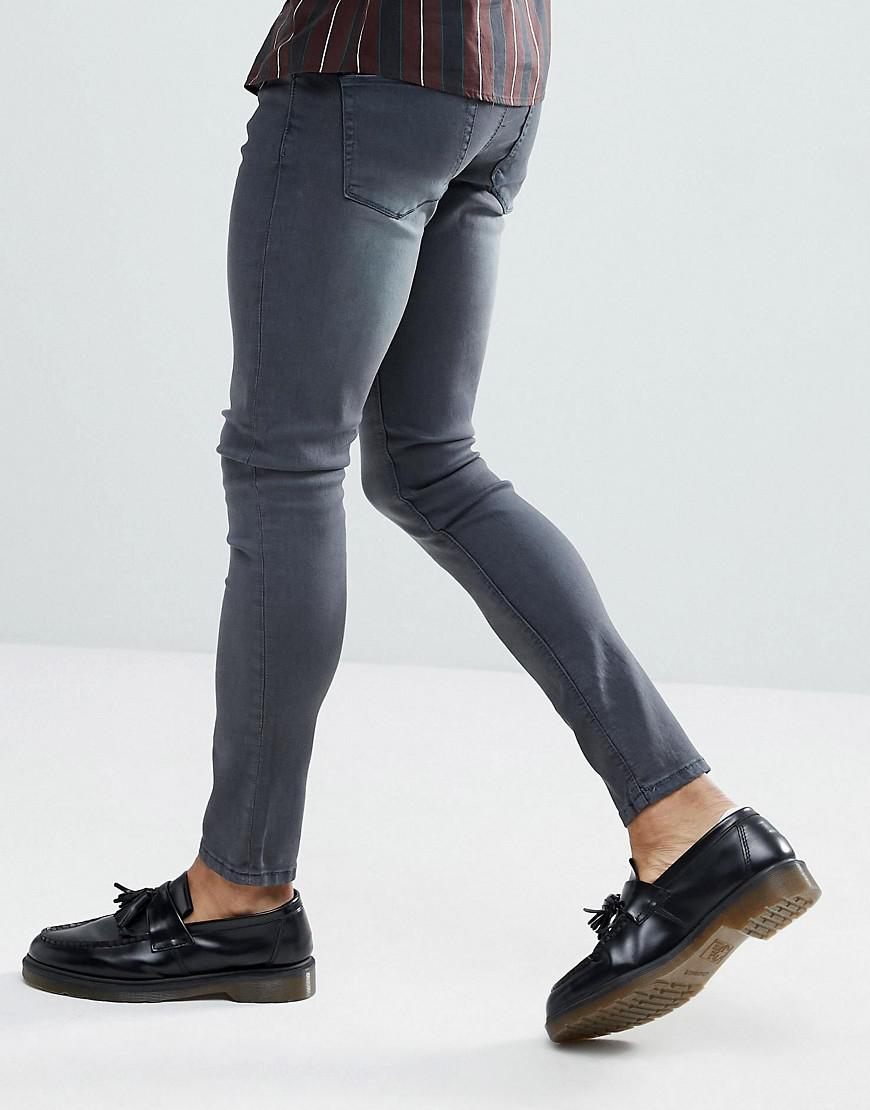 00ab2217767 Lyst - Asos Extreme Super Skinny Jeans In Smokey Dark Blue in Blue for Men