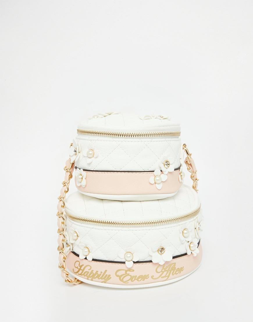 aldo ldo wedding cake cross body bag in pink lyst. Black Bedroom Furniture Sets. Home Design Ideas