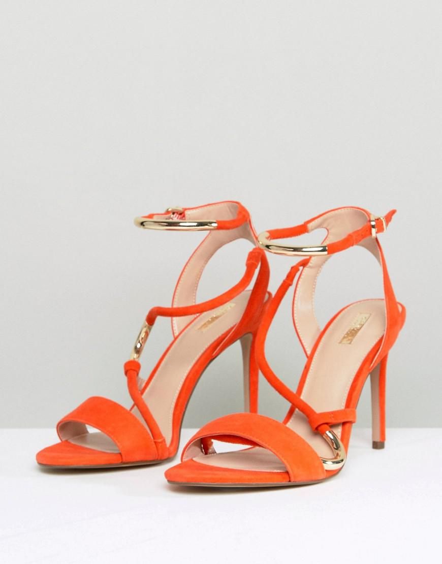 1cb66fee7951 Carvela Kurt Geiger Orange Strappy Barely There Sandal in Orange - Lyst