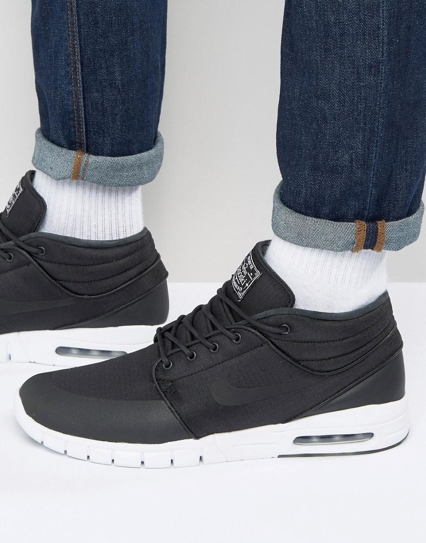 8f3c33dc9a4 Nike Stefan Janoski Max Mid Trainers In Black 807507-001 in Black ...